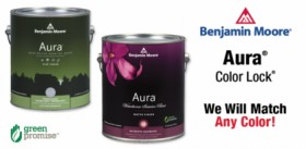 Ben Moore Aura Paint we will match any color